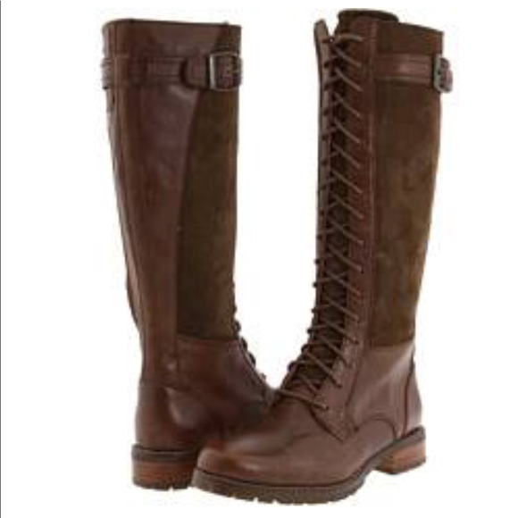 Ariat Iona Lace Up Brown Leather Tall